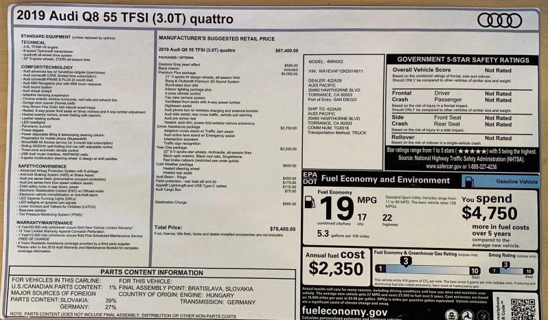 Audi Q8 Quattro S-Line full